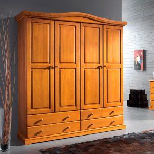 armario 4 puertas pino macizo