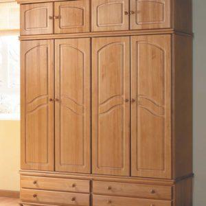 armario pino 4 puertas
