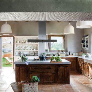 cocina de madera rustica
