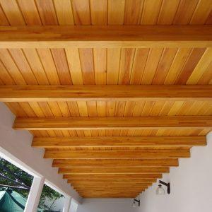 techos de madera machimbre sin nudos